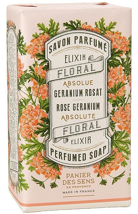 """Экстра-нежное растительное мыло """"Герань"""" - Panier Des Sens Rose Geranium Extra-gentle Vegetable Soap"""