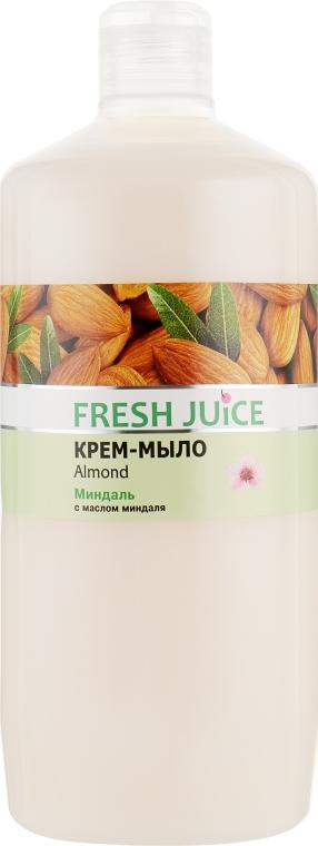"""Крем-мыло с увлажняющим молочком """"Миндаль"""" - Fresh Juice Almond"""
