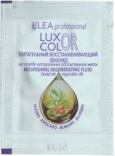 Духи, Парфюмерия, косметика Питательный восстанавливающий флюид - Elea Professional Luxor Color (пробник)
