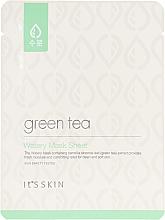 Духи, Парфюмерия, косметика Тканевая маска для жирной и комбинированной кожи с зеленым чаем - It's Skin Green Tea Watery Mask Sheet