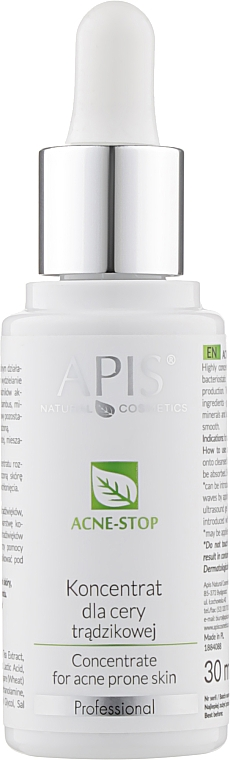 Концентрат для лица - APIS Professional Concentrate For Acne Skin