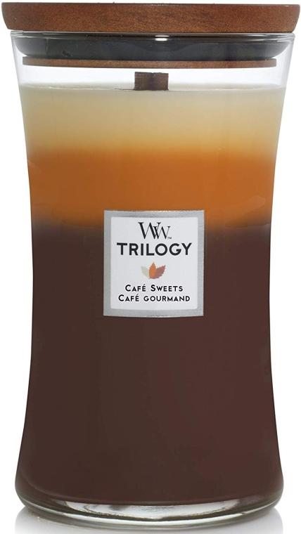 Ароматическая свеча в стакане - Woodwick Trilogy Candle Large Cafe Sweets