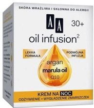 Духи, Парфюмерия, косметика Ночной крем с арганом и маслом маракуйи - AA Cosmetics Oil Infusion Night Cream 30+