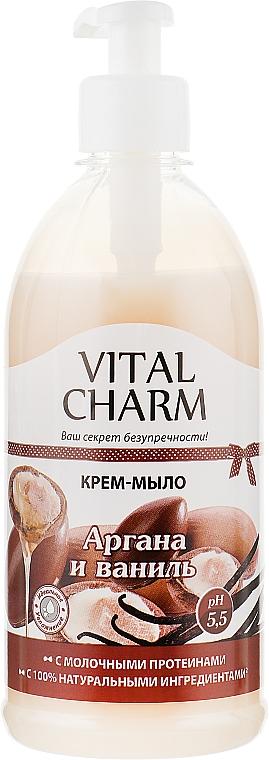 """Крем-мыло с дозатором """"Аргана и ваниль"""" - Vital Charm"""