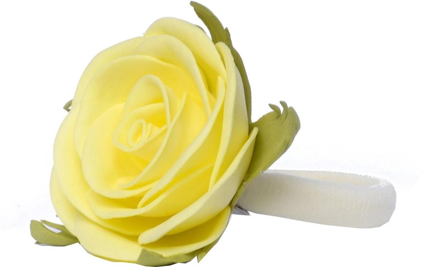 """Резинка для волос """"Лимонная роза"""", маленькая - Katya Snezhkova"""