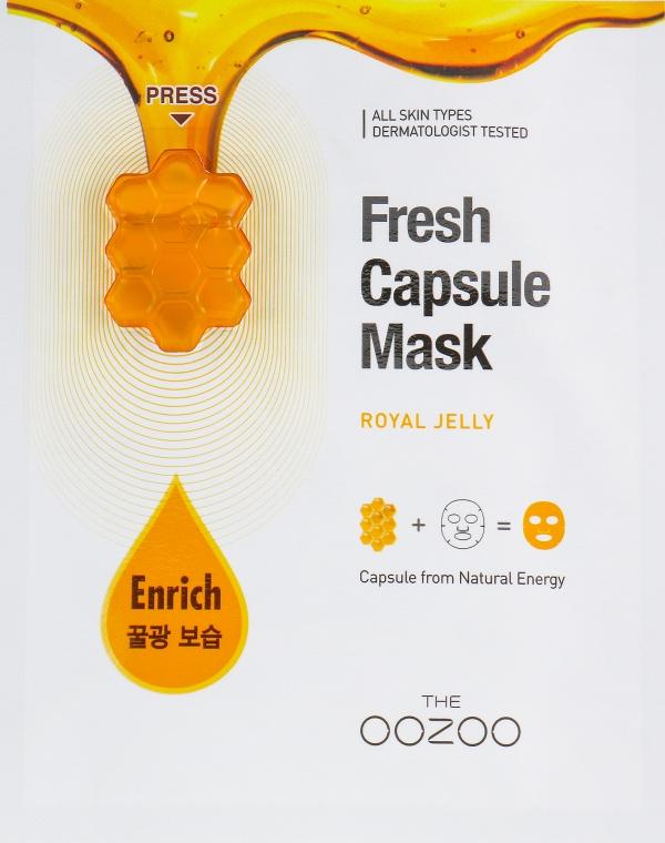 """Маска для лица с капсулой-активатором """"Маточное молочко"""" - The Oozoo Fresh Capsule Mask Royal Jelly"""