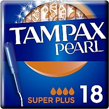 Парфумерія, косметика Тампони з аплікатором, 18 шт - Tampax Pearl Super Plus