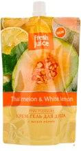 """Духи, Парфюмерия, косметика Крем-гель для душа """"Тайская дыня и Белый лимон"""" - Fresh Juice Thai Pleasure Thai Melon & White Lemon (дой-пак)"""