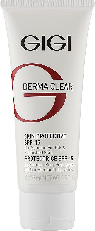 Захисний крем SPF-15 - Gigi Derma Clear Skin Protective Lotion SPF 15 — фото N1