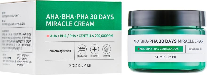Восстанавливающий крем для проблемной кожи - Some By Mi AHA/BHA/PHA 30 Days Miracle Cream