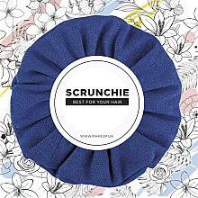 """Духи, Парфюмерия, косметика Резинка для волос экозамша, электро-синяя """"Suede Classic"""" - MakeUp Hair Accessories"""