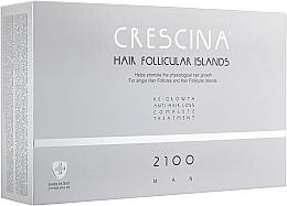Духи, Парфюмерия, косметика Комплекс для лечения выпадения волос для мужчин 2100 - Crescina Hair Follicular Island Re-Growth Anti-Hair Loss Complete Treatment 2100 Man
