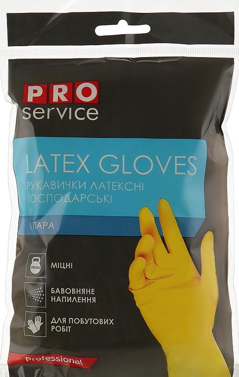 Перчатки латексные хозяйственные крепкие, размер M - PRO service Standart
