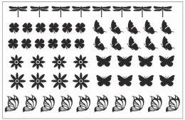 Духи, Парфюмерия, косметика Трафарет для ногтей D-09 - Adore Professional Deep Design D-09