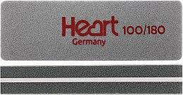 Парфумерія, косметика Пилка-шліфувальник для нігтів, 100/180, прямокутний, міні - Heart Germany