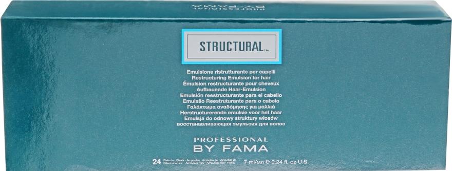 Восстанавливающий уход в ампулах - Professional By Fama Structural Restructuring Emulsion