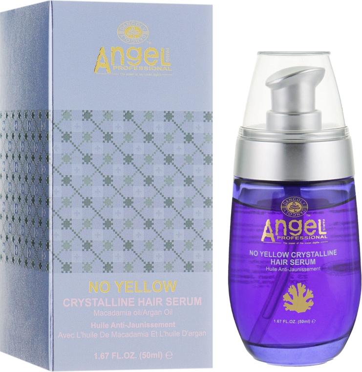 Сыворотка для волос с маслами макадамии и арганы - Angel Professional Paris No Yellow Crystalline Hair Serum