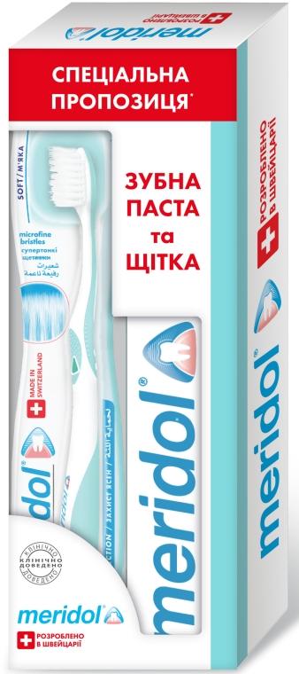 """Набор """"Меридол"""" с мягкой зубной щеткой - meridol Brosse A Dent Chirurgicale Ultra Souple (t/past/75ml + t/brush/1pcs)"""