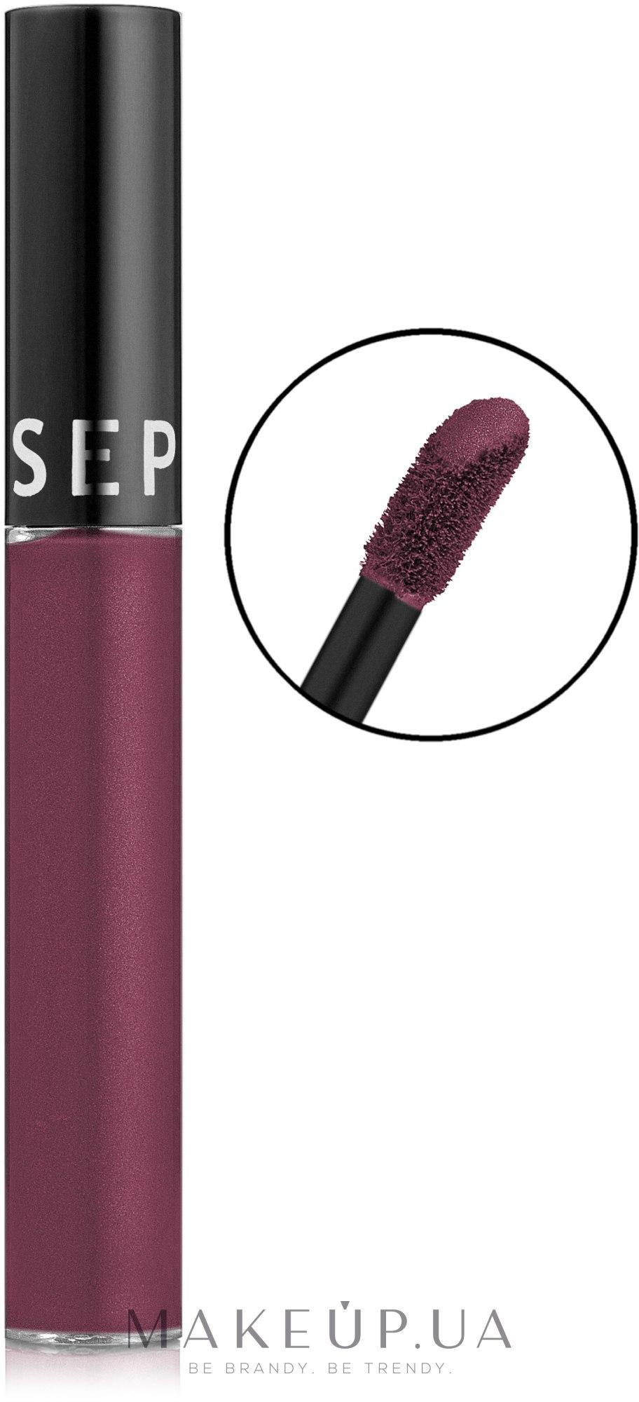 Жидкая губная помада - Sephora Cream Lip Stain — фото 14 - Blackberry Sorbet