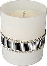 Духи, Парфюмерия, косметика Ароматическая свеча черно-белая, 8х9,5см - Artman Crystal Glass