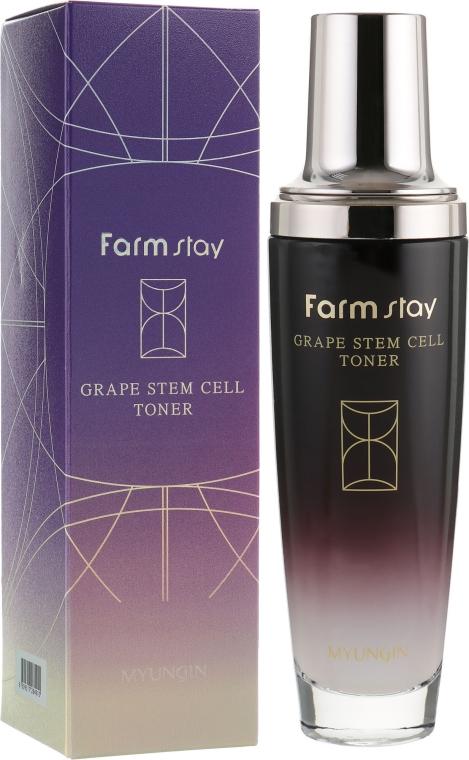 Тонер для лица с фито-стволовыми клетками винограда - FarmStay Grape Stem Cell Toner