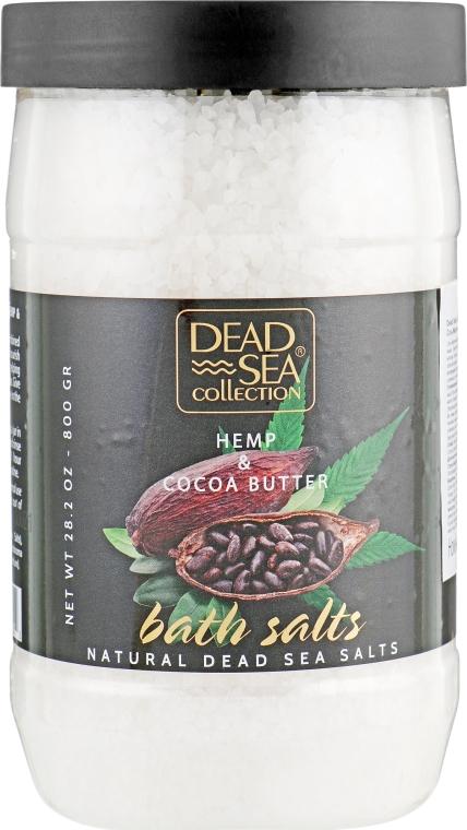 Соль для ванны с маслом конопли и какао - Dead Sea Collection Hemp & Cocoa Butter Bath Salts