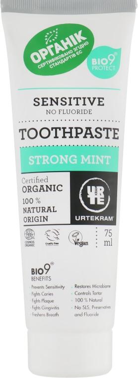 """Органическая зубная паста """"Сильная мята"""" - Urtekram Sensitive Strong Mint Organic Toothpaste"""