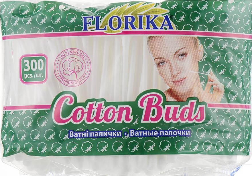 Ватные палочки в пакете, 300 шт - Florika