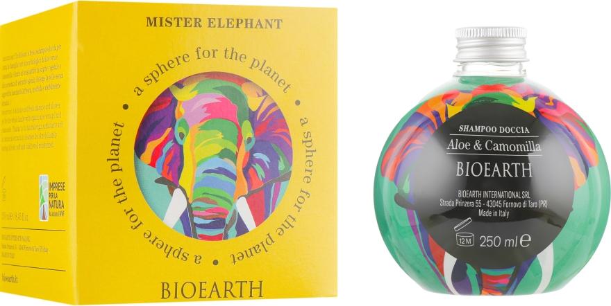 """Шампунь-гель для душа """"Алоэ и ромашка"""" - Bioearth Mister Elephant"""