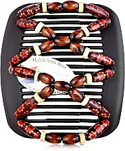 Духи, Парфюмерия, косметика Заколка для волос Beada 010, на коричневых гребнях - African Butterfly Hair Clip