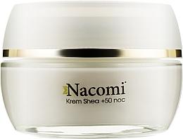 Духи, Парфюмерия, косметика Ночной крем для лица - Nacomi Shea Cream 50+