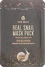 Духи, Парфюмерия, косметика Маска тканевая с экстрактом муцина улитки - Pax Moly Real Snail Mask Pack