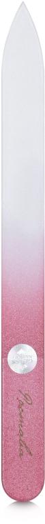 Пилочка для ногтей, хрустальная, 135мм, бордовый чехол - Ростава
