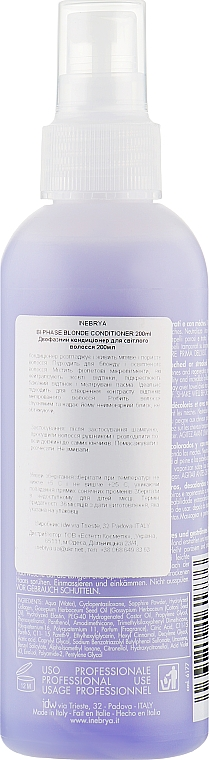 Спрей-бальзам для осветленных волос - Inebrya Age Therapy Bi-Phase Blonde Conditioner — фото N2