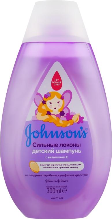 Детский шампунь для волос с витамином Е - Johnson's® Baby Strenght Drops