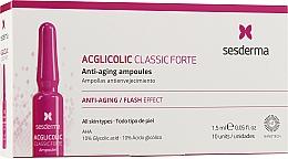 Духи, Парфюмерия, косметика Ампулы с гликолевой кислотой против старения - SesDerma Laboratories Acglicolic Classic Forte Anti-Aging Ampoules