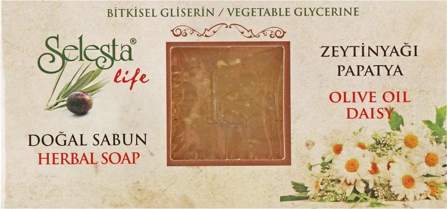 """Глицериновое мыло """"Ромашка и оливковое масло"""" - Selesta Life Glycerine Herbal Soap"""