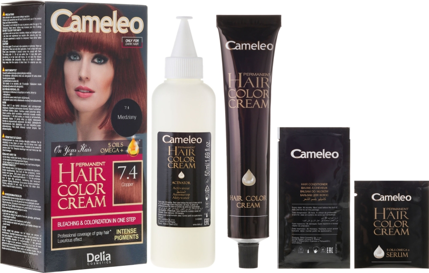 Стойкая краска для волос с натуральными маслами - Delia Cameleo Omega +