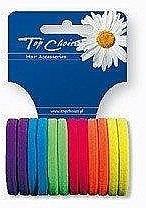 Духи, Парфюмерия, косметика Резинки для волос «Neon» 22487, 12 шт, разноцветные - Top Choice