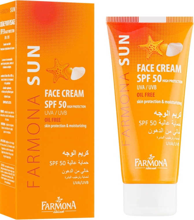 Солнцезащитный крем для лица, обезжиренный - Farmona Sun SPF 50