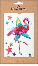 Духи, Парфюмерия, косметика Акварельные переводные тату - Miami Tattoos Flamingo
