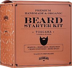 Духи, Парфюмерия, косметика Набор - Golden Beards Starter Beard Kit Toscana (balm/60ml + oil/30ml + shm/100ml + cond/100ml + brush)