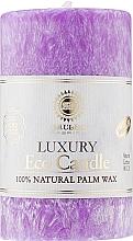 Духи, Парфюмерия, косметика Свеча из пальмового воска, 10.5 см, фиолетовая - Saules Fabrika Eco Candle