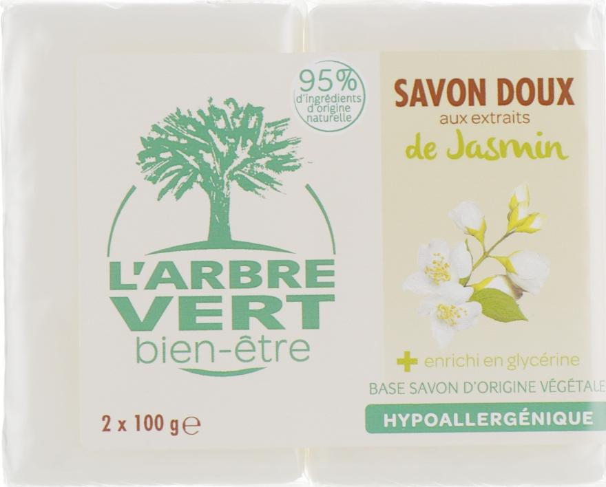 "Твердое мыло ""Жасмин"" - L'Arbre Vert Jasmine Bio Soap"