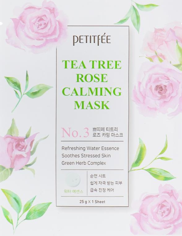 Успокаивающая маска для лица с экстрактом чайного дерева и розы - Petitfee&Koelf Tea Tree Rose Calming Mask