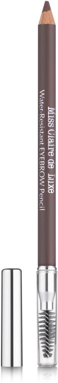 Водостойкий карандаш для бровей - Miss Claire de Luxe Water-Resistant Eyebrow Pencil