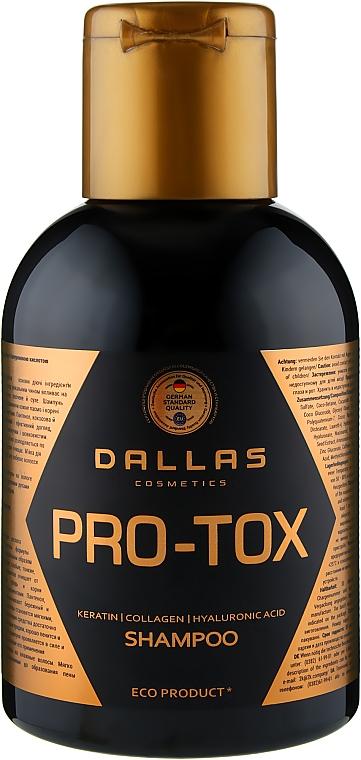 Шампунь с кератином, коллагеном и гиалуроновой кислотой - Dallas Cosmetics Pro-Tox Shampoo