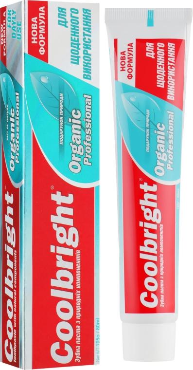 Зубная паста для ежедневного использования - Coolbright Organic Professional