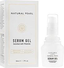 Духи, Парфюмерия, косметика Сыворотка для лица и кожи вокруг глаз обогащенная витаминами - Satara Natural Pearl Serum Gel Enriched With Vitamins