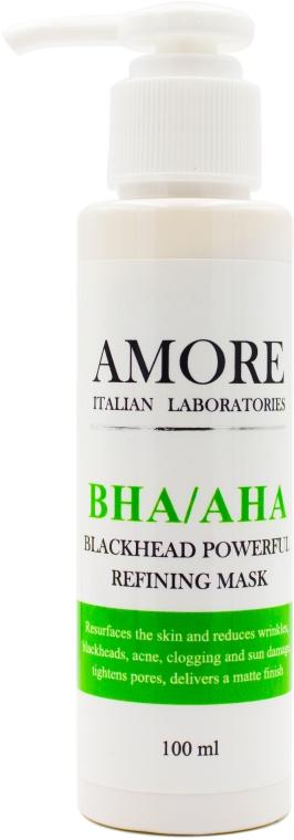 Концентрированная маска с кислотами против черных точек и акне - Amore BHA/AHA Blackhead Powerful Refining Mask
